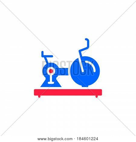Exercise Stationary Bike icon vector filled flat sign solid colorful pictogram isolated on white. Gym symbol logo illustration