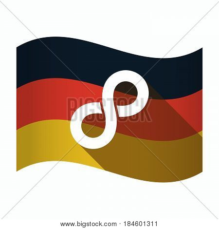 Isolated Germany Flag With An Infinite Sign