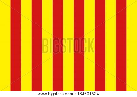 Flag of Langon is a commune in the Gironde department in Nouvelle-Aquitaine in southwestern France. Vector illustration