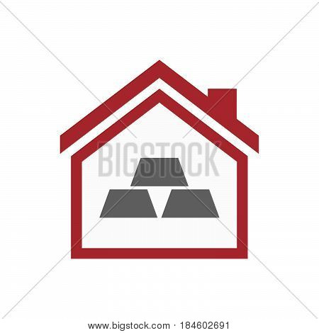 Isolated House With Three Gold Bullions