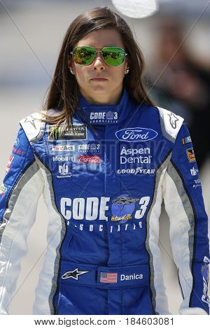 April 30, 2017 - Richmond, Virginia, USA: Danica Patrick (10) walks to her car before the Toyota Owners 400 at Richmond International Speedway in Richmond, Virginia.