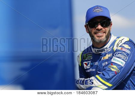 April 28, 2017 - Richmond, Virginia, USA: Jimmie Johnson (48) waits to qualify for the Toyota Owners 400 at Richmond International Speedway in Richmond, Virginia.