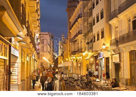 Valencia Old Town Street. Spain