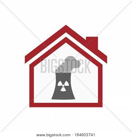 Isolated House With A Nuclear Power Station