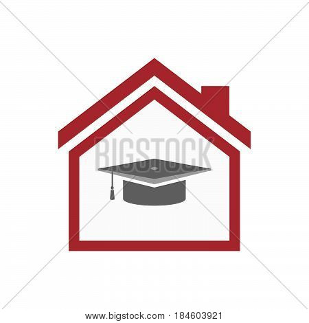 Isolated House With A Graduation Cap