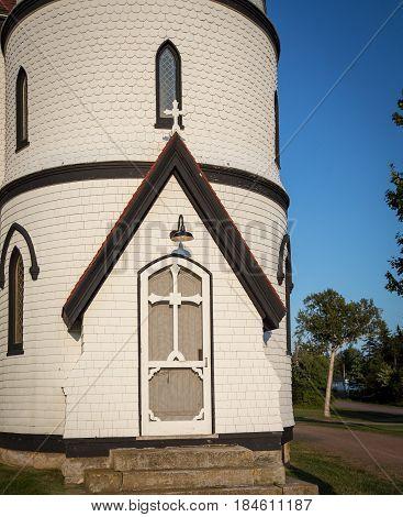 Door on a Church in Prince Edward Island