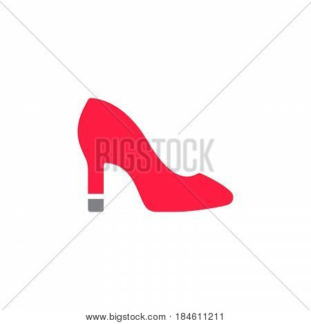 Womens Shoes icon vector filled flat sign solid colorful pictogram isolated on white. Symbol logo illustration