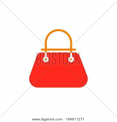 Bag icon vector filled flat sign solid colorful pictogram isolated on white. Womens handbag symbol logo illustration