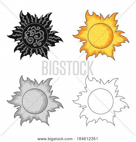 The sun is bright.Summer rest single icon in cartoon style vector symbol stock web illustration.