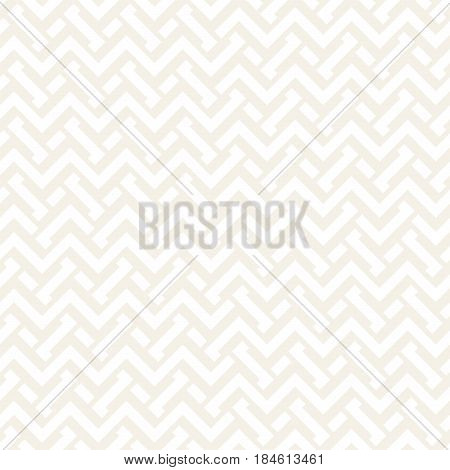 Interlacing Lines Subtle Lattice. Ethnic Monochrome Texture. Abstract Geometric Background Design. Vector Seamless Black and White Pattern.