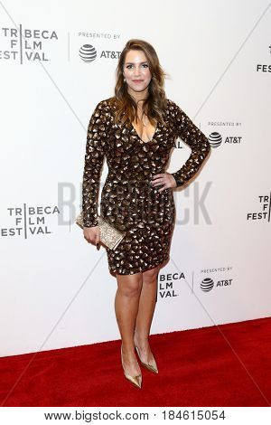 NEW YORK-APR 28: Sara Chase attends the 'Unbreakable Kimmy Schmidt' screening at BMCC at PAC during the 2017 TriBeCa Film Festival on April 28, 2017 in New York City.