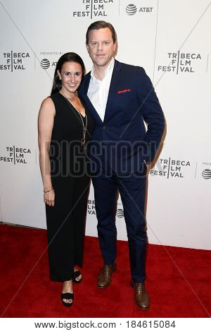 NEW YORK-APR 28: Christina Geist and Willie Geist (R) attend the 'Unbreakable Kimmy Schmidt' screening at BMCC at PAC during the 2017 TriBeCa Film Festival on April 28, 2017 in New York City.