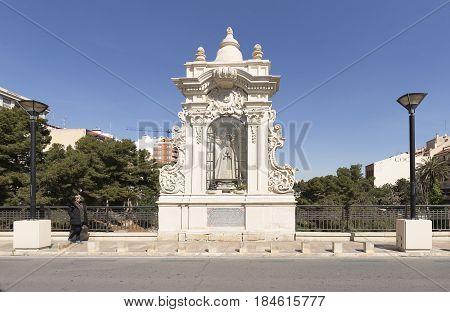Bridge Of The Virgin In The City Of Elche.
