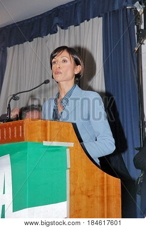 Salerno Italy - December 13 2013 : Mara Carfagna at SalernoCampania South Italy.