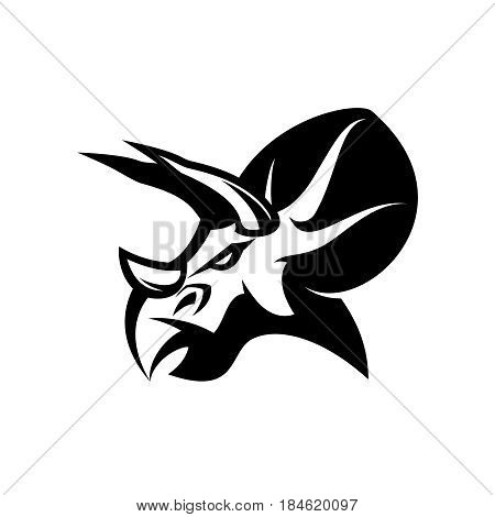 Furious dinosaur sport club vector logo concept isolated on white background. Modern team badge mascot design. Premium quality wild reptile t-shirt tee print illustration. Savage monster icon.