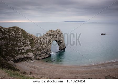 Durdle Door at Lulworth Cove in January