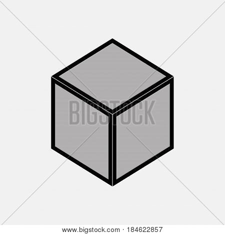 nintendo cube icon gray Logoth emblem fully editable vector image