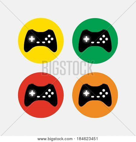 set of game icons computer games sell toys fully editable vector image