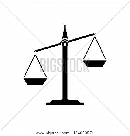 Icon scales sign of balance zodiac sign legal business editable vector image