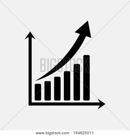 icon graph of trade exchange rates rostuschy market fully editable vector image