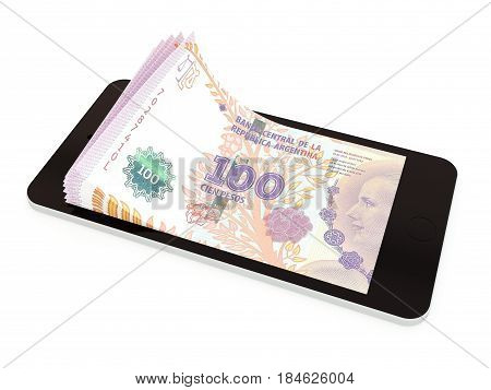 Mobile Payment With Smart Phone, Argentina Peso