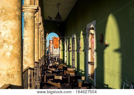 Balcony And Golden Light
