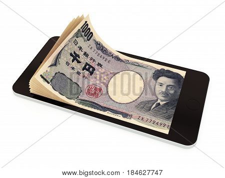Mobile Payment With Smart Phone, Japan Yen