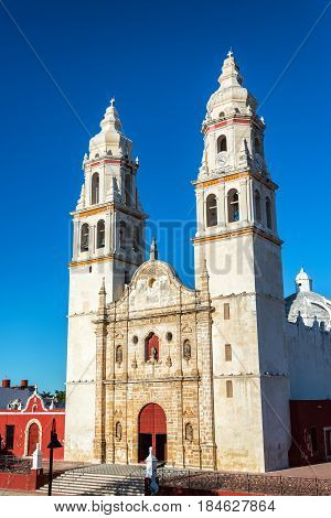 Campeche Cathedral View