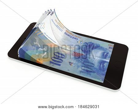 Mobile Payment With Smart Phone, Swiss Franc