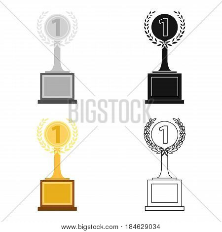 Challenge cup icon in cartoon style isolated on white background. Winner cup symbol vector illustration.