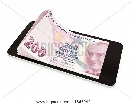 Mobile Payment With Smart Phone, Turkish Lira