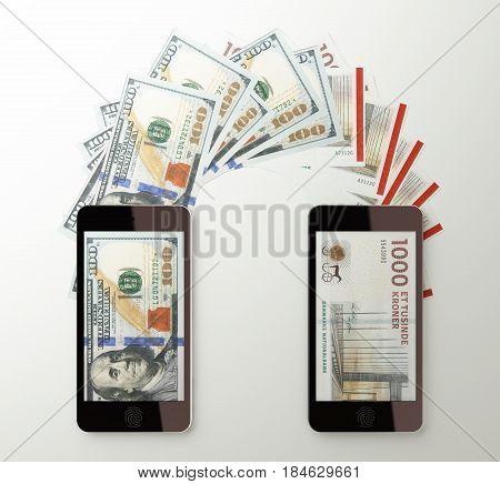 International Mobile Money Transfer, Dollar To Denmark Kroner