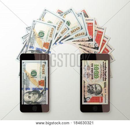 International Mobile Money Transfer, Dollar To Indian Rupee