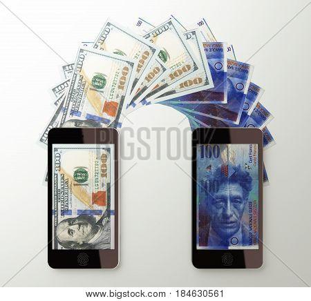 International Mobile Money Transfer, Dollar To Swiss Franc