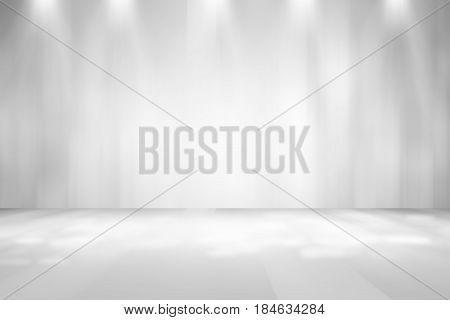 soft gray studio room background, grey floor backdrop with spotlight