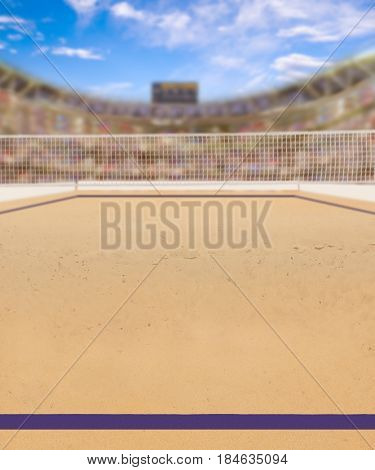 Beach Volleyball Court And Copy Space