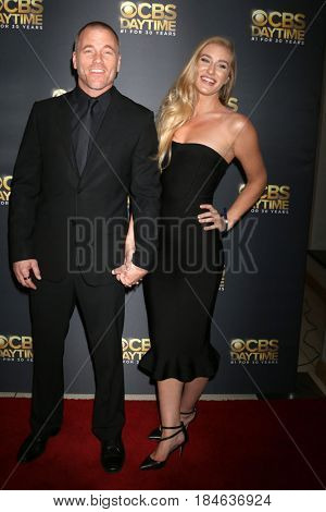 LOS ANGELES - APR 30:  Sean Carrigan, Audra Bucko at the CBS Daytime Emmy After Party at the Pasadena Conferene Center on April 30, 2017 in Pasadena, CA