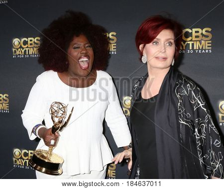 LOS ANGELES - APR 30:  Sheryl Underwood, Sharon Osbourne at the CBS Daytime Emmy After Party at the Pasadena Conferene Center on April 30, 2017 in Pasadena, CA