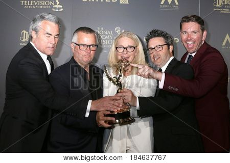 LOS ANGELES - APR 30:  Outstanding Entertainment Talk Show, Ellen in the 44th Daytime Emmy Awards Press Room at the Pasadena Civic Auditorium on April 30, 2017 in Pasadena, CA