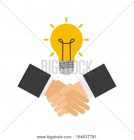 handshake business done deal vector illustration design