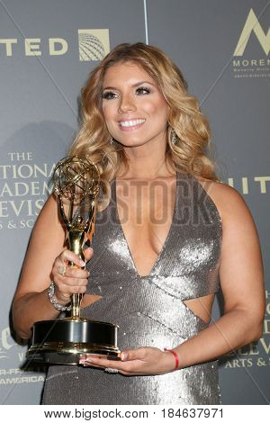 LOS ANGELES - APR 30:  Gaby Natale, SuperLatina in the 44th Daytime Emmy Awards Press Room at the Pasadena Civic Auditorium on April 30, 2017 in Pasadena, CA