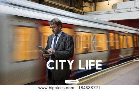 City Life Simple Modern Living Icon