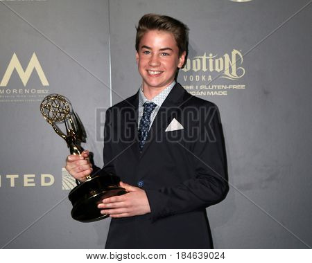 LOS ANGELES - APR 29:  Isaac Kragten at the 2017 Creative Daytime Emmy Awards at the Pasadena Civic Auditorium on April 29, 2017 in Pasadena, CA
