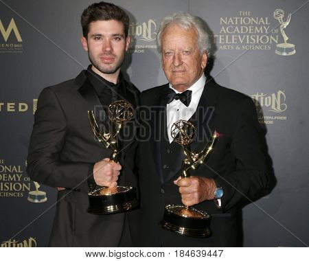 LOS ANGELES - APR 29:  Kristos Andrews, Nicolas Coster at the 2017 Creative Daytime Emmy Awards at the Pasadena Civic Auditorium on April 29, 2017 in Pasadena, CA
