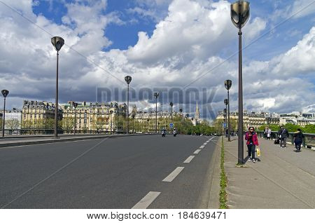 PARIS FRANCE - APRIL 1 2017: Pont de l'Alma (Alma Bridge) in Paris France. The beginning of April.