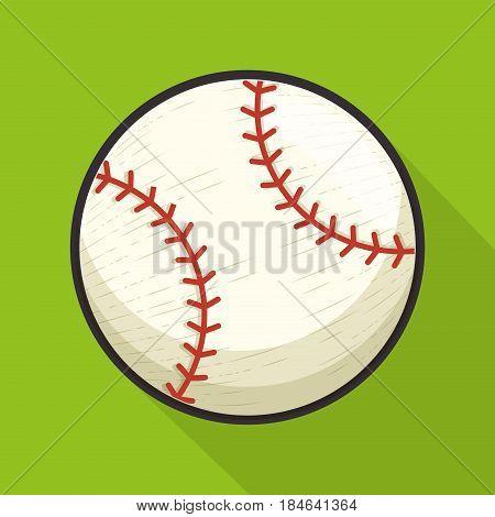 baseball sport ball isolated icon vector illustration design