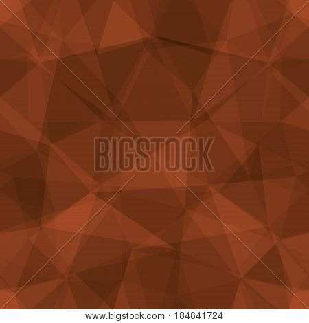 Abstract seamless light and dark brown overlapping triangles pattern for background. Transparency geometric layout for printing magazine cover, advertise presentation. Effect of a kaleidoscope.
