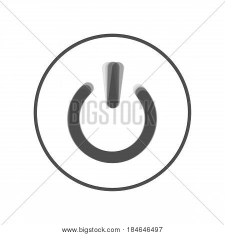 On Off switch sign. Vector. Gray icon shaked at white background.