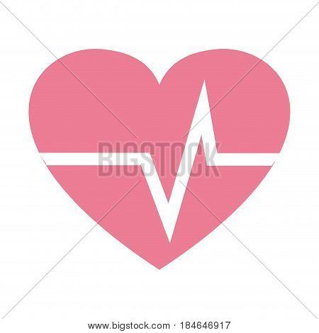 nice heartbeat to cardiac rhythm, vector illustration design
