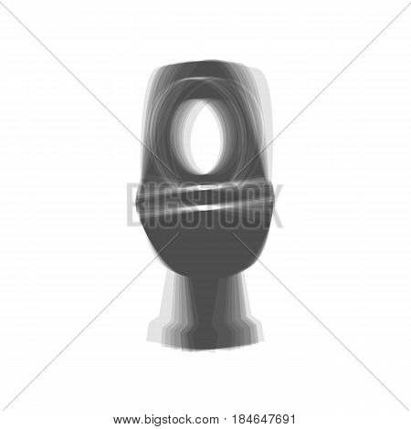Toilet sign illustration. Vector. Gray icon shaked at white background.